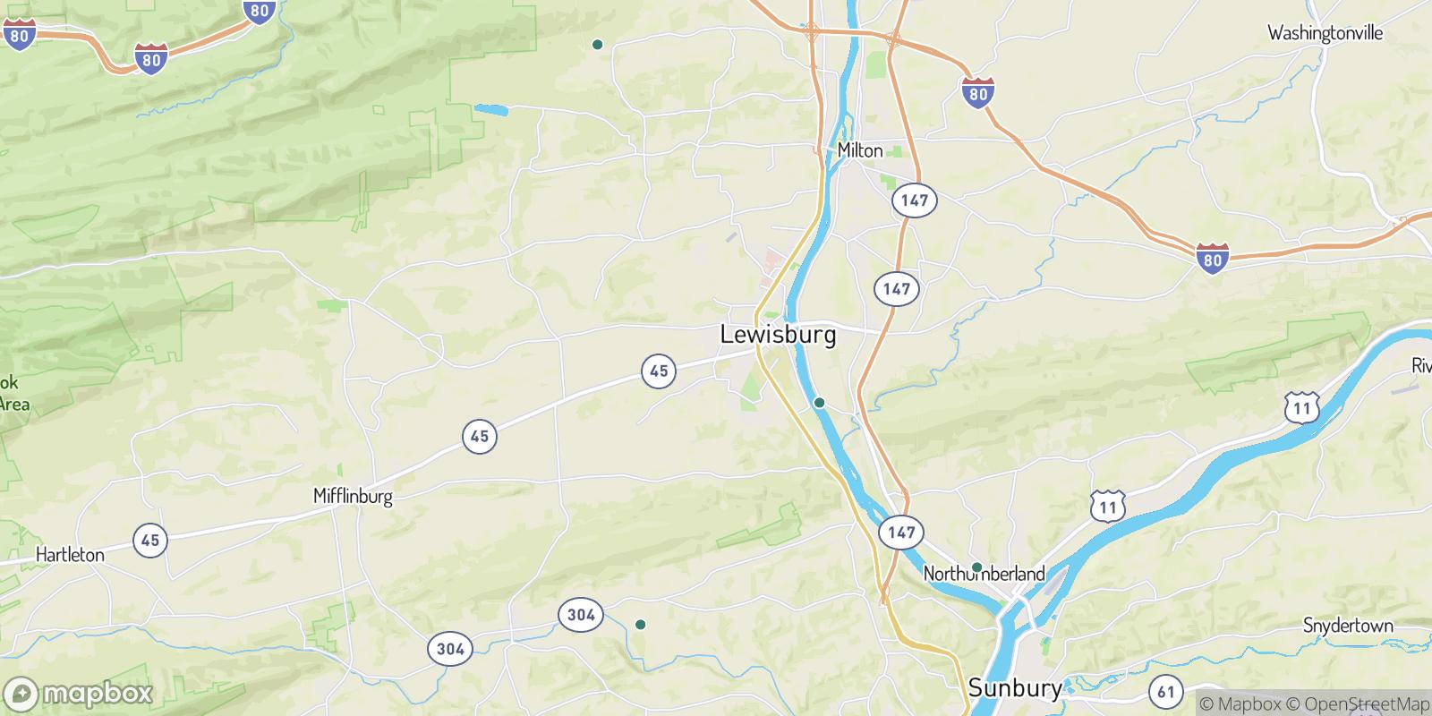 The best camping near Bucknell, Pennsylvania