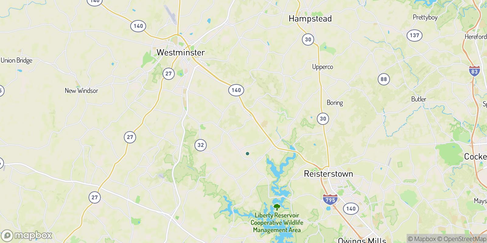 The best camping near Beaver Ridge, Maryland