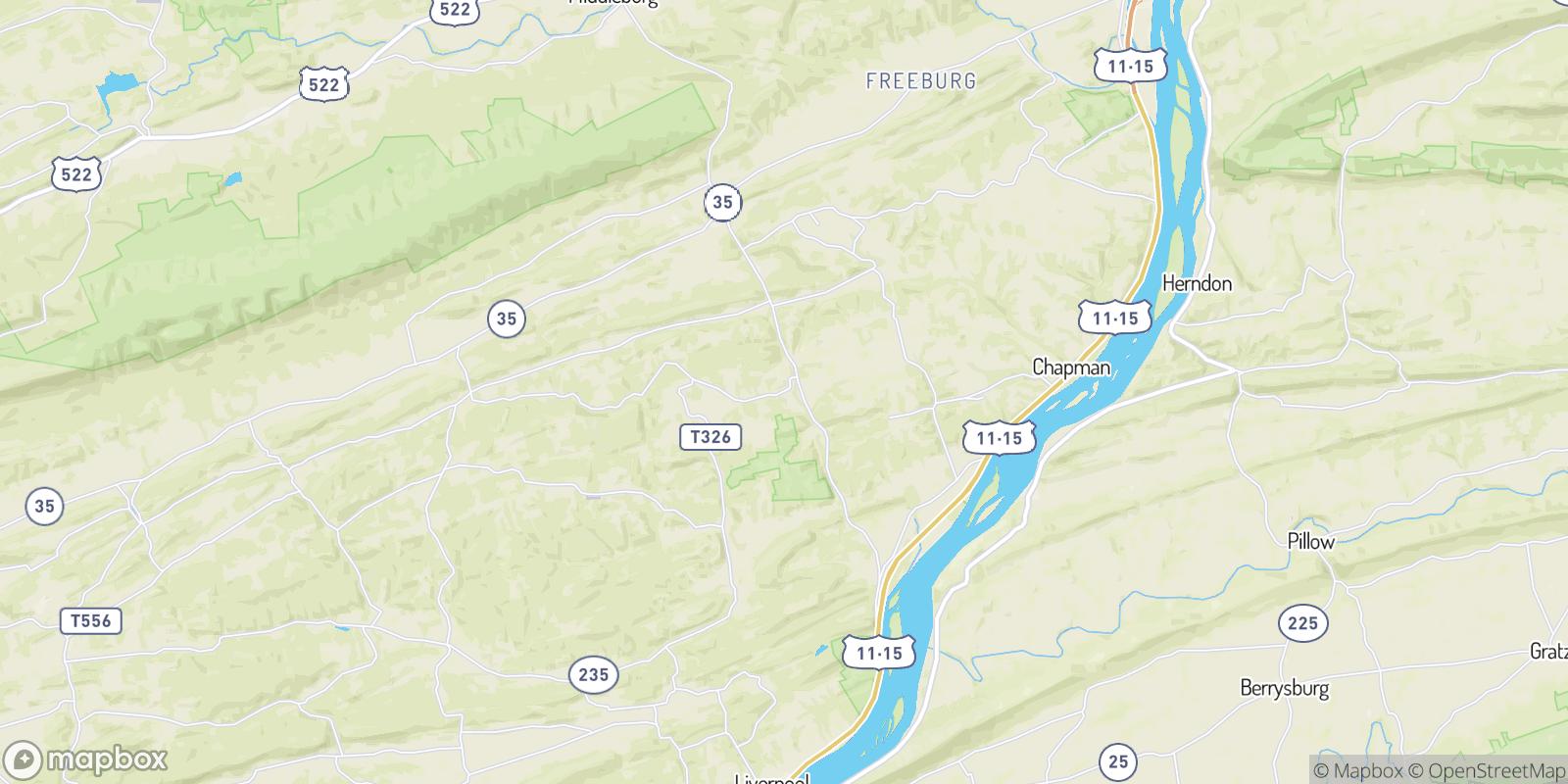 The best camping near Aline, Pennsylvania
