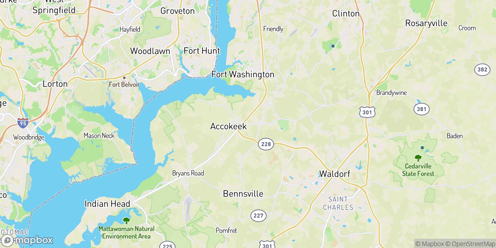 The best camping near North Accokeek, Maryland