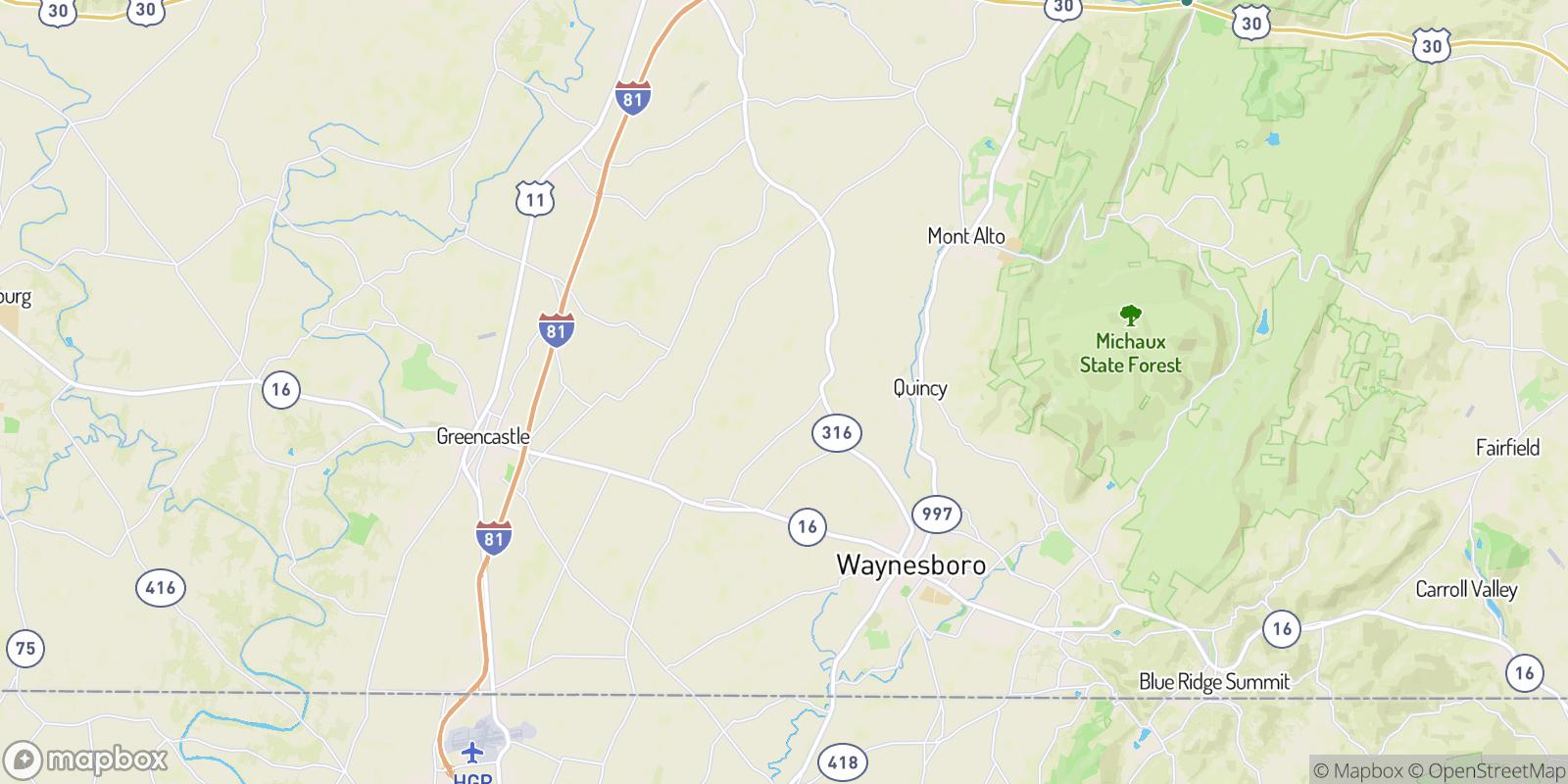 The best camping near Greendale, Pennsylvania