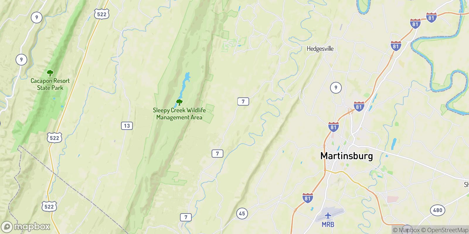 The best camping near Jones Springs, West Virginia