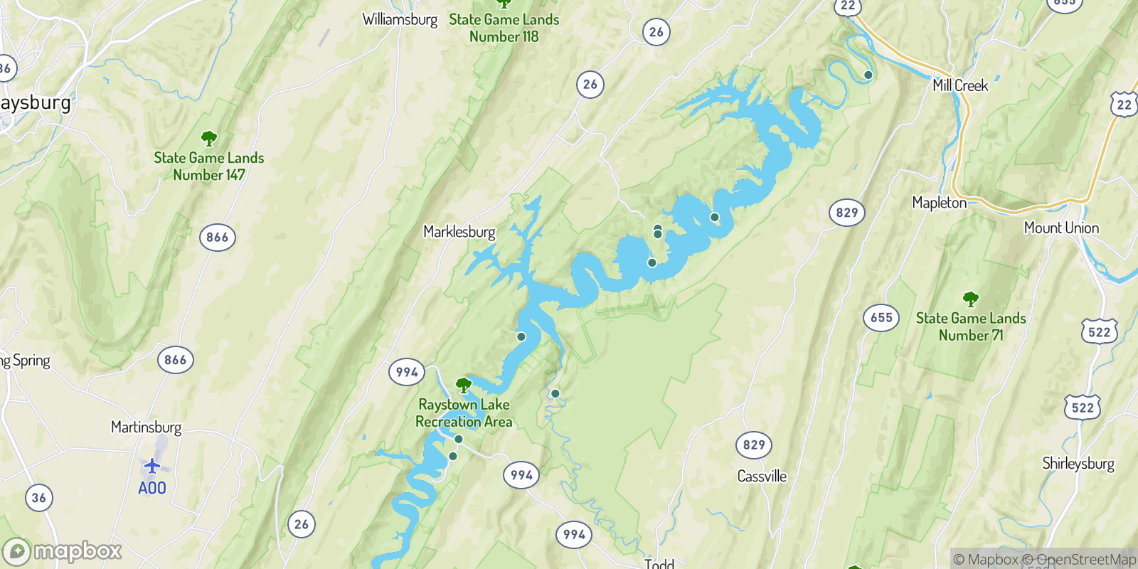 The best camping near Raystown Lake, Pennsylvania