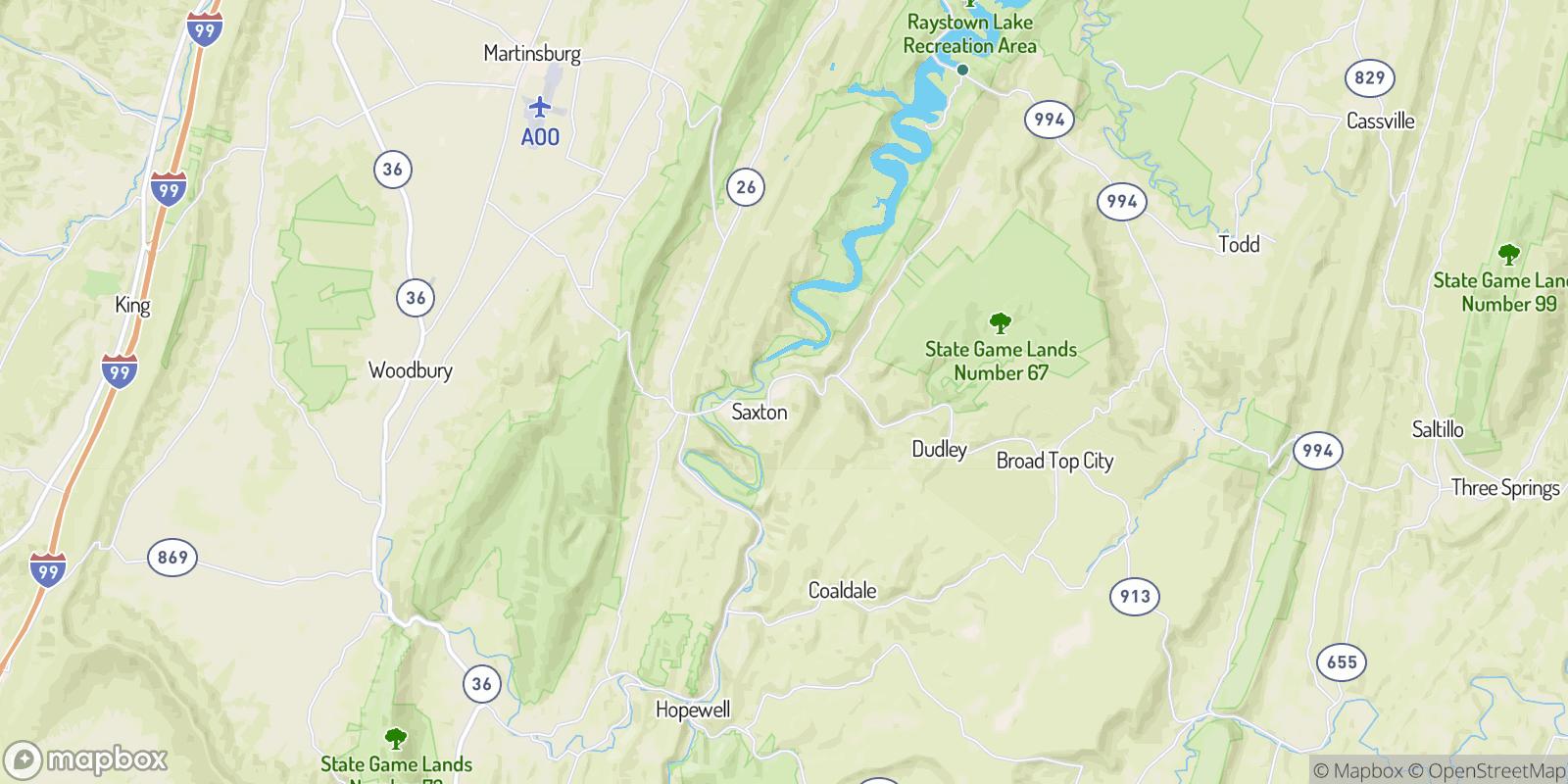 The best camping near East Saxton, Pennsylvania