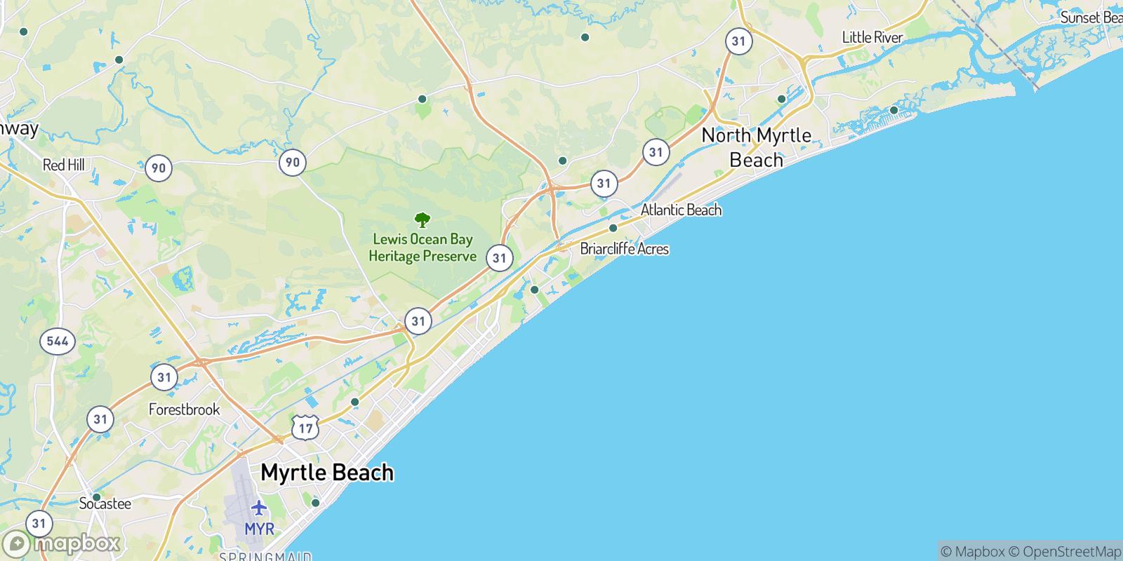 The best camping near Arcadian Shores, South Carolina