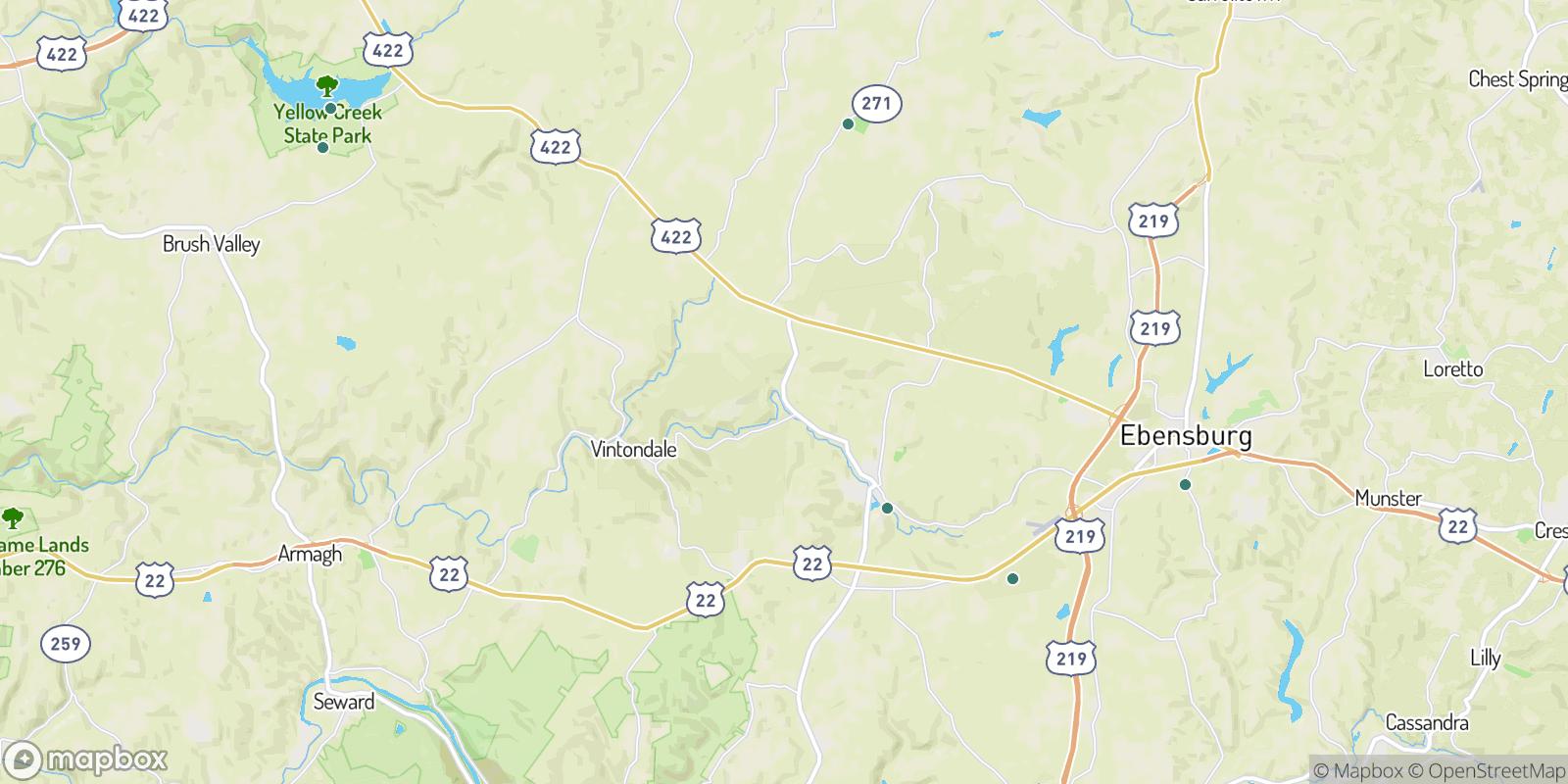 The best camping near Twin Rocks, Pennsylvania