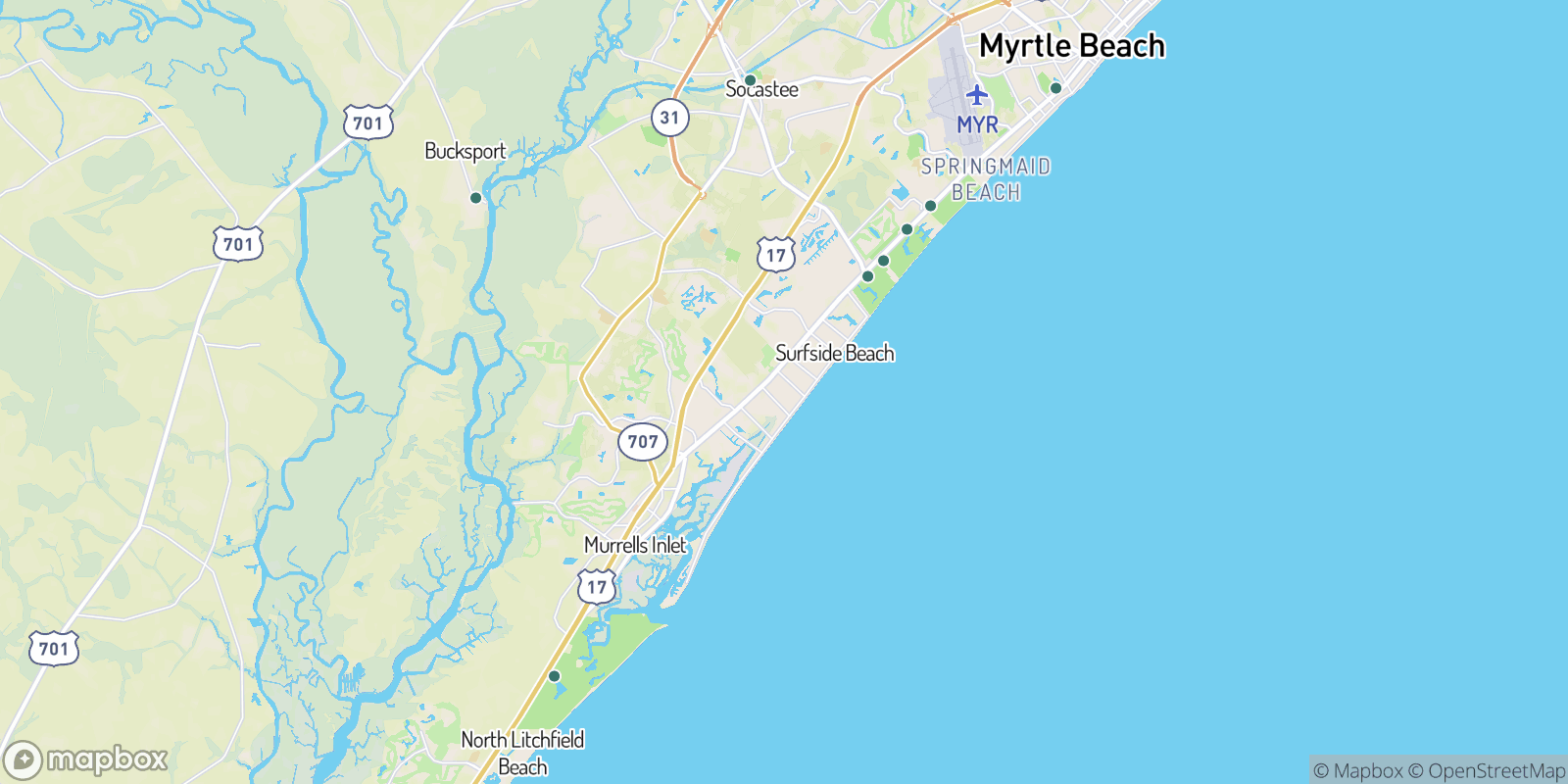 The best camping near Oceanside Village, South Carolina