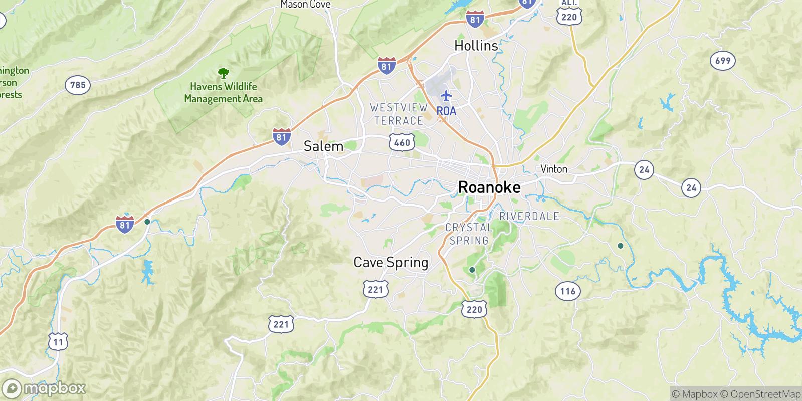 The best camping near Cox Estates, Virginia