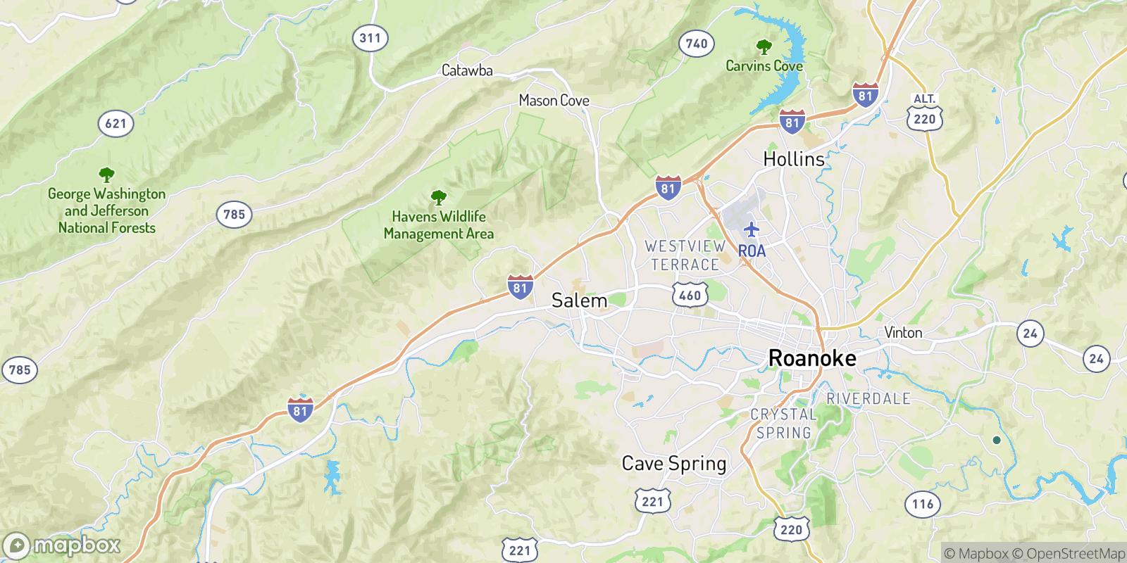 The best camping near Moneiro, Virginia