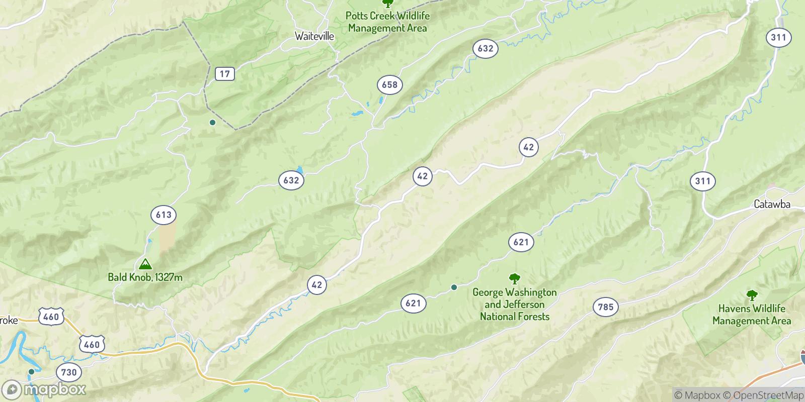 The best camping near Simmonsville, Virginia