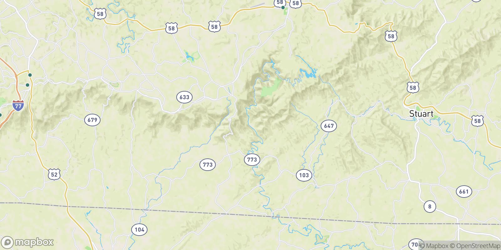 The best camping near Kibler Valley, Virginia