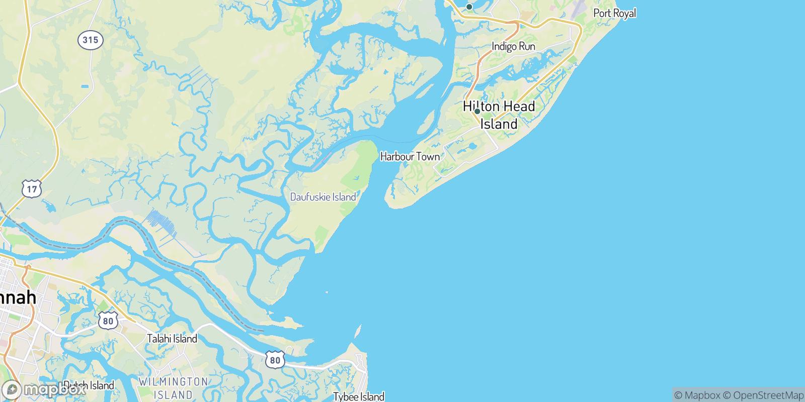 The best camping near South Sea Pines, South Carolina