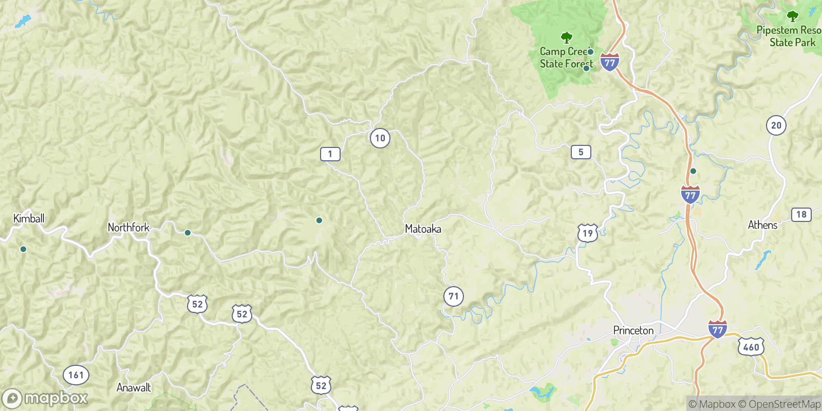The best camping near Smokeless, West Virginia