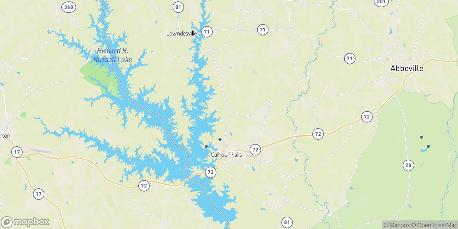 The best camping near Latimer, South Carolina