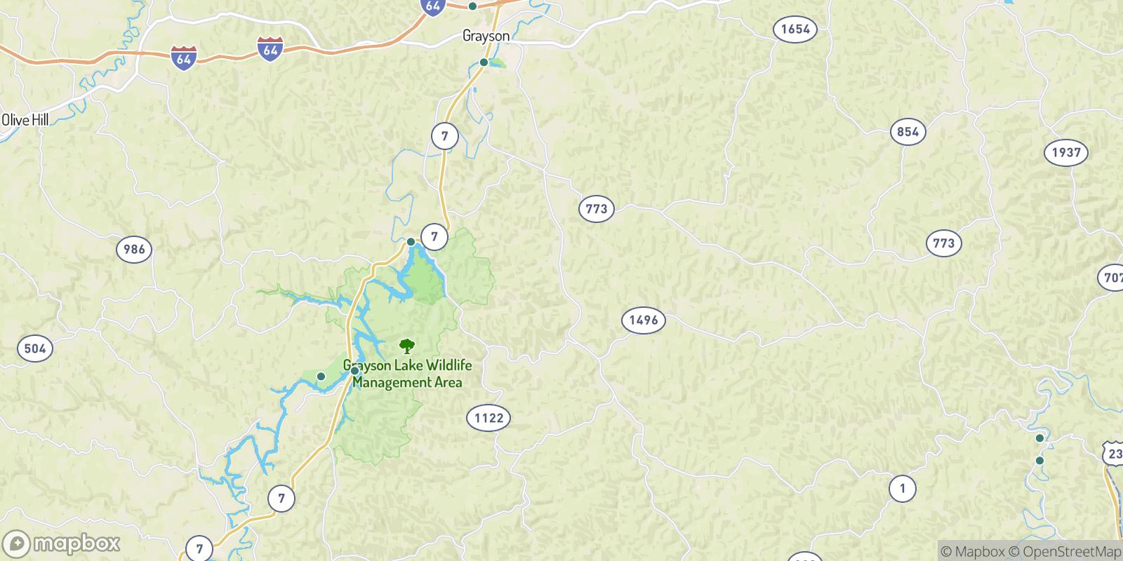 The best camping near Johns Run, Kentucky