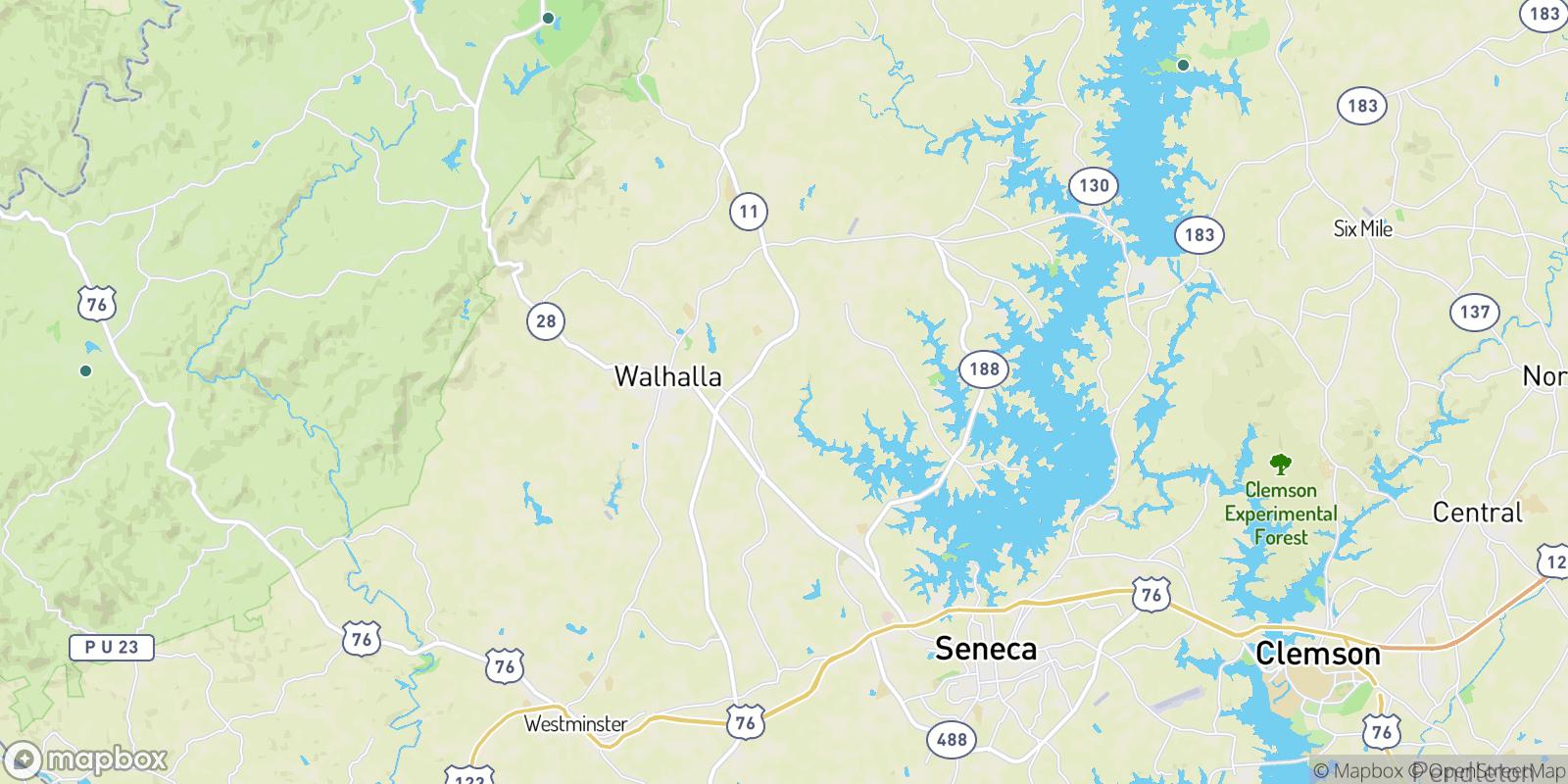 The best camping near Crystal Falls, South Carolina