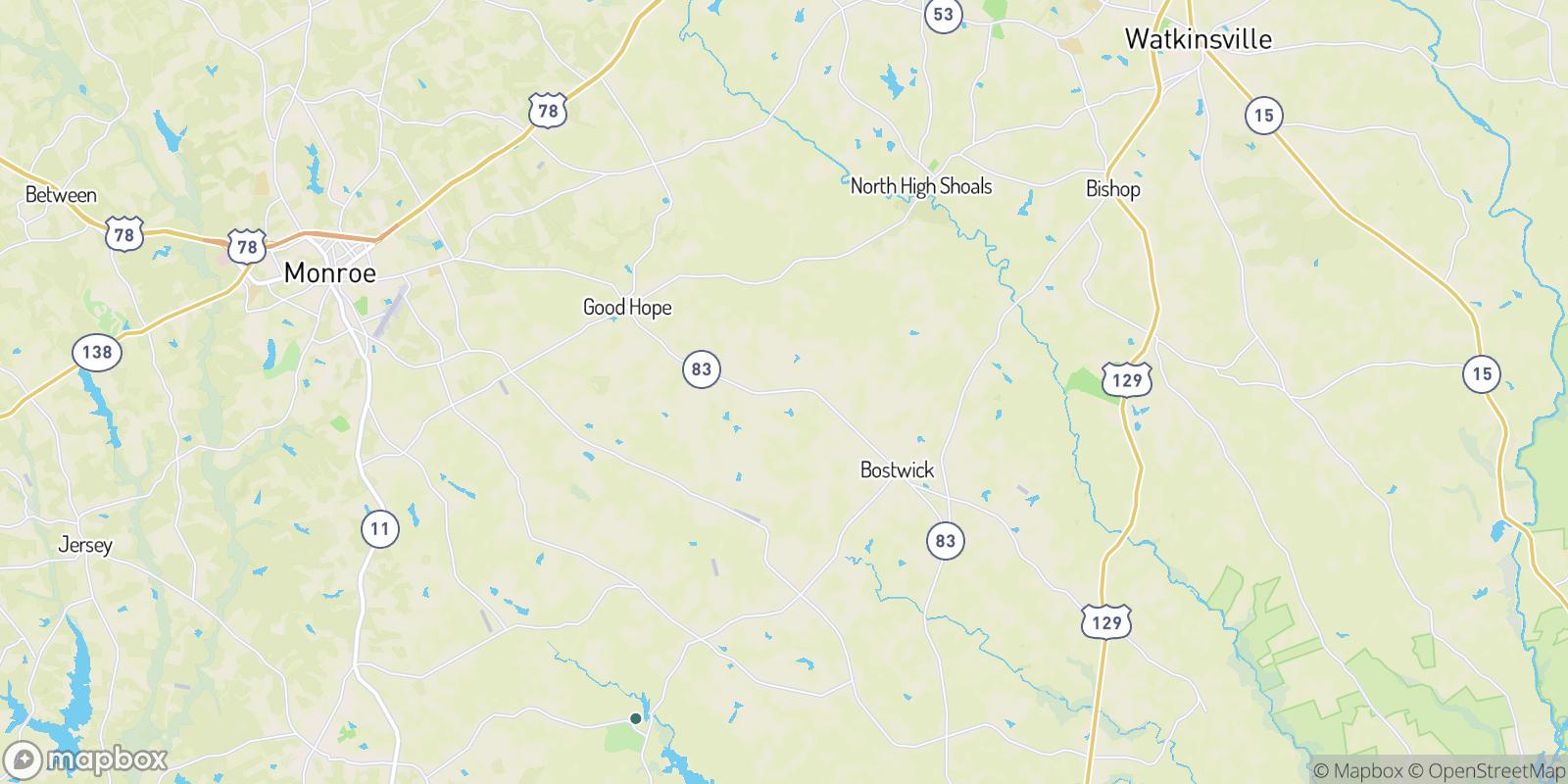 The best camping near Braswell, Georgia