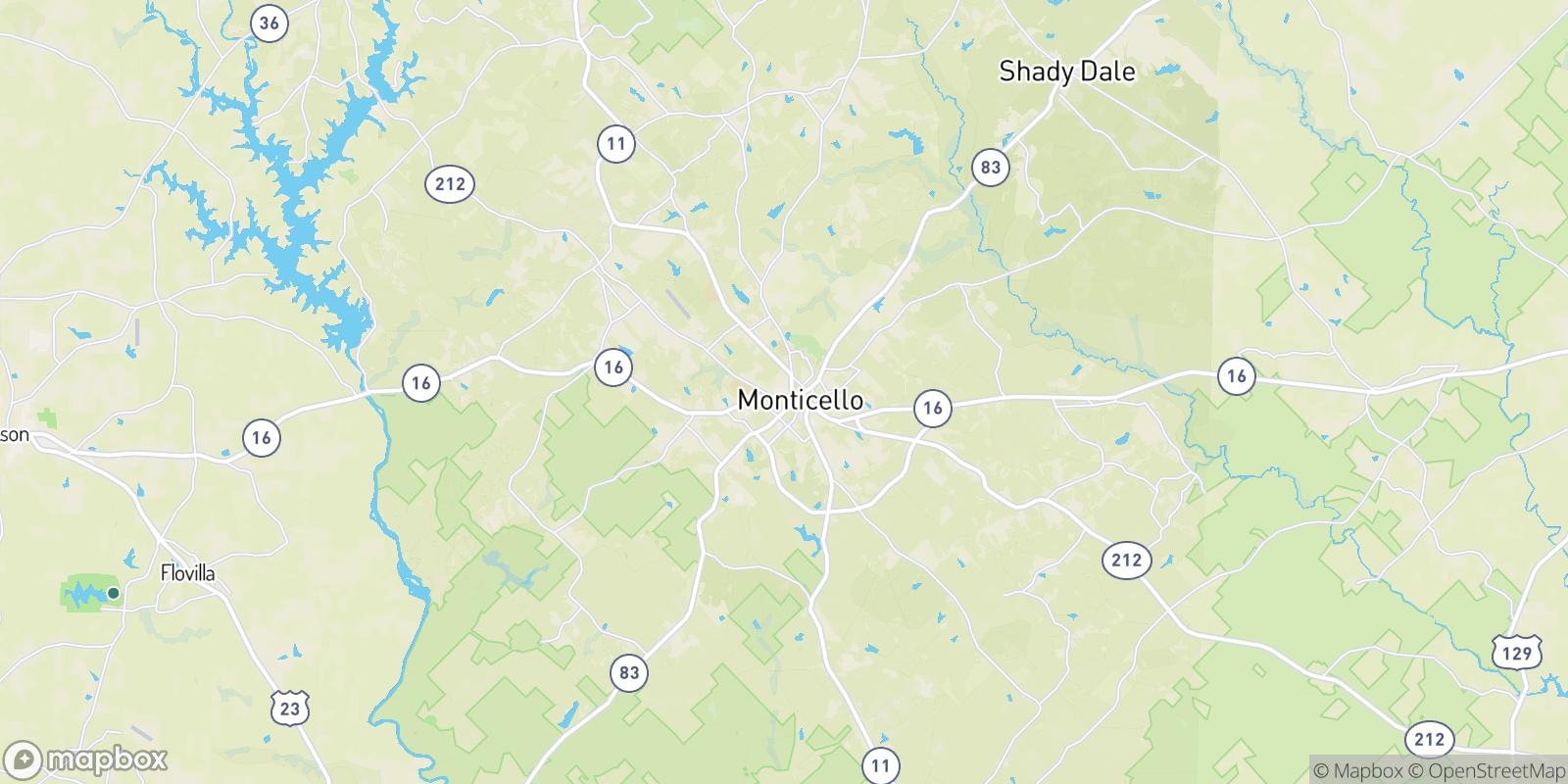 The best camping near Monticello, Georgia