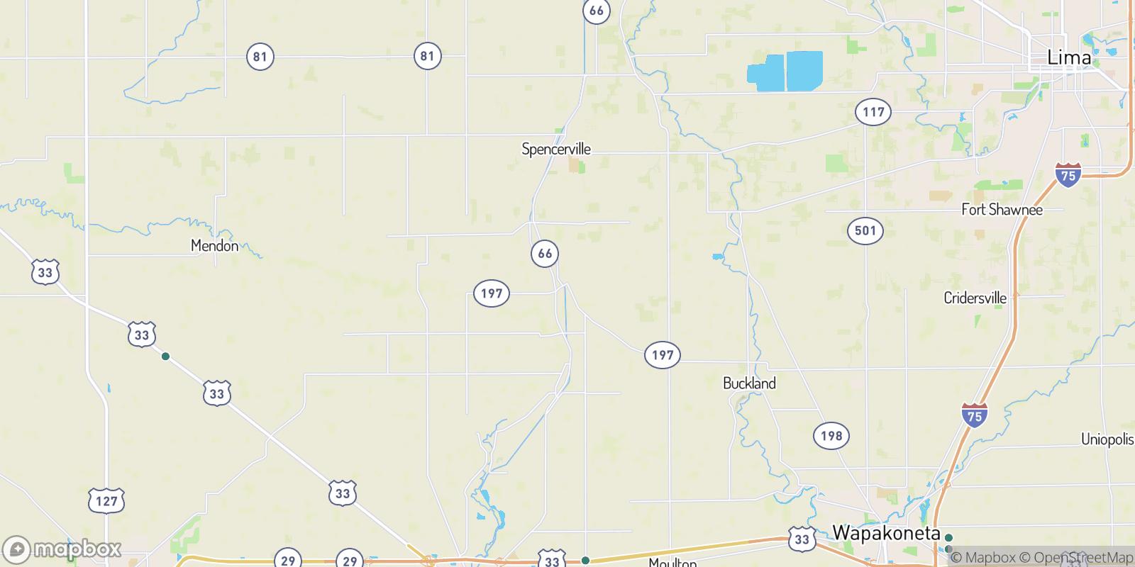 The best camping near Kossuth, Ohio