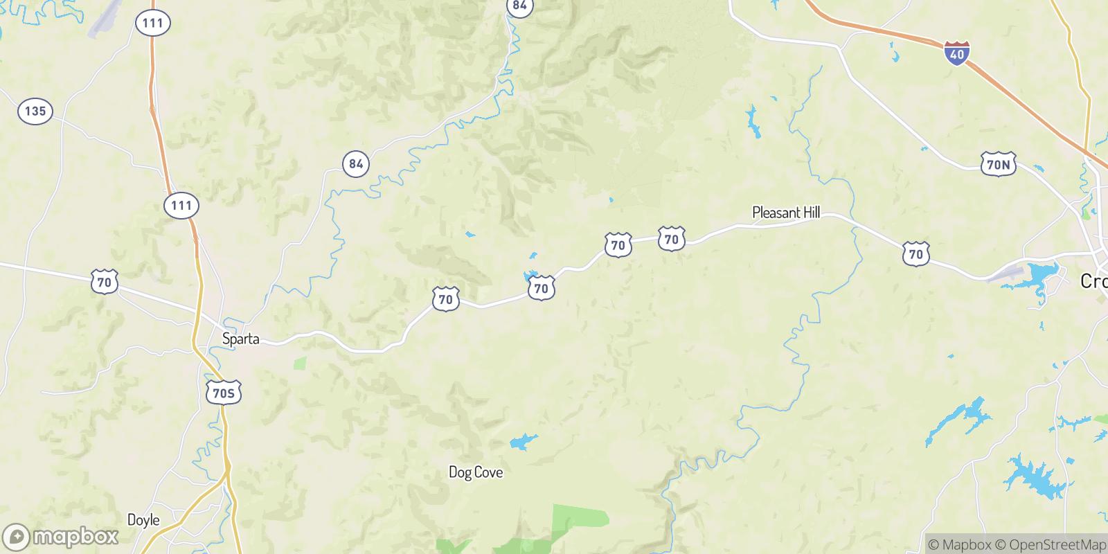 The best camping near De Rossett, Tennessee