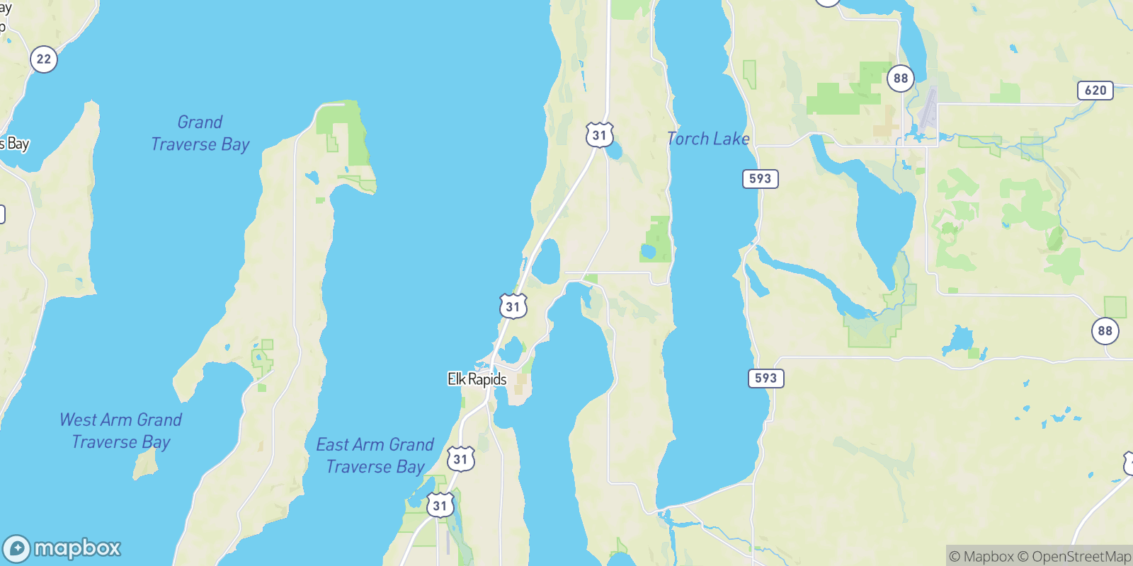 The best camping near Kewadin, Michigan