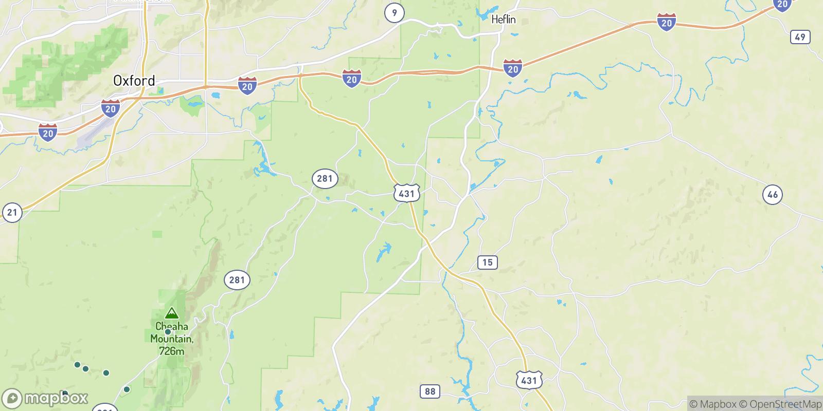 The best camping near Chulafinnee, Alabama