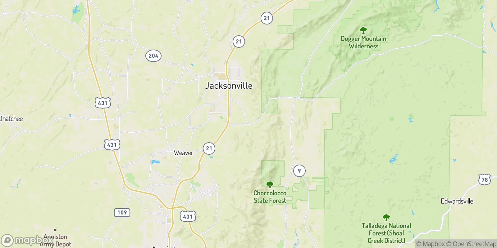 The best camping near Whites Gap, Alabama