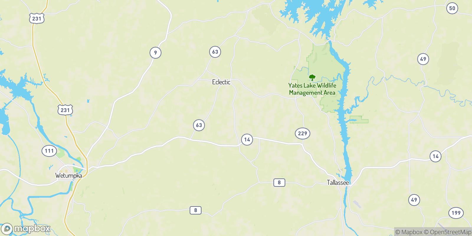 The best camping near Floyd, Alabama