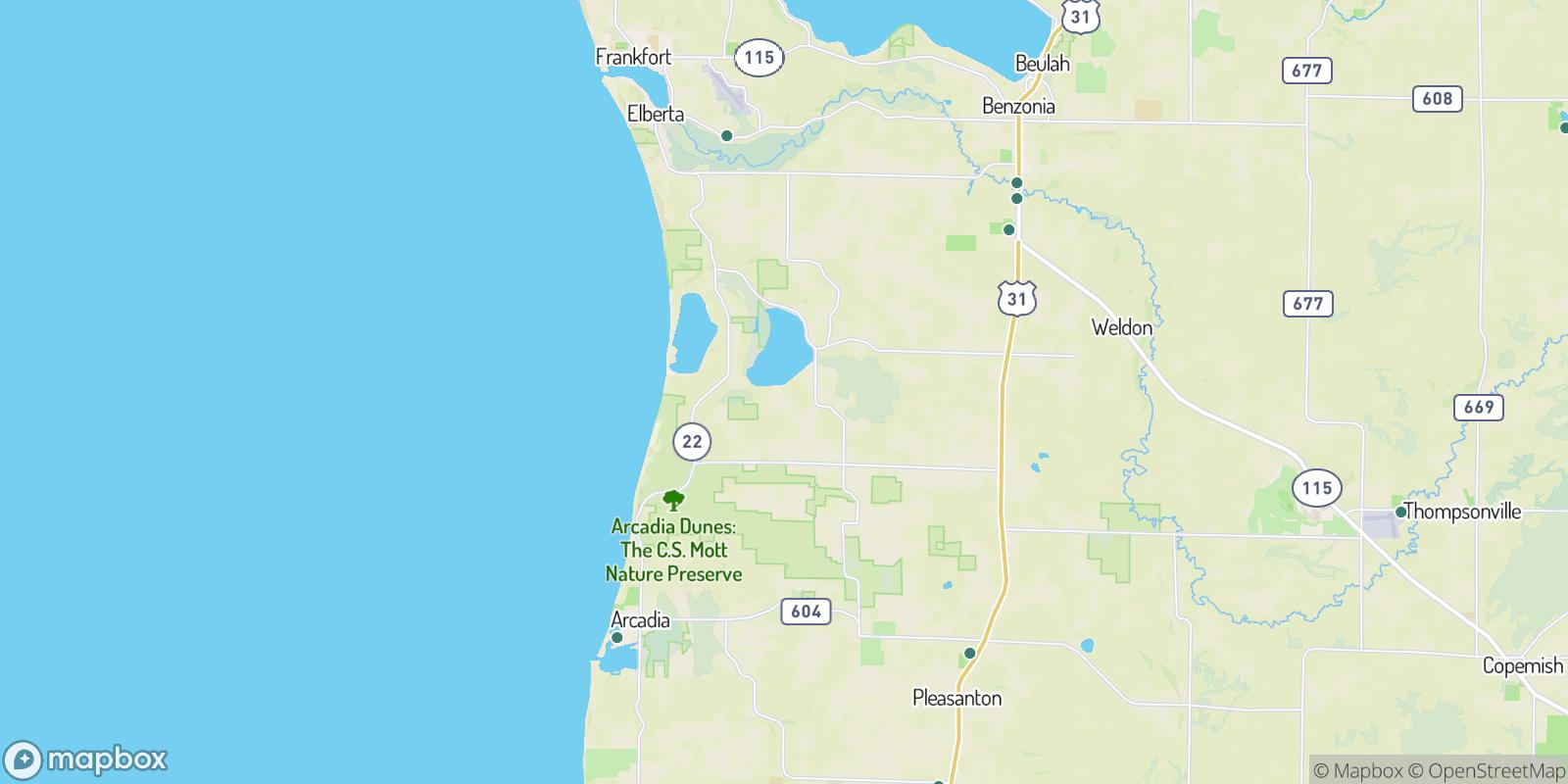 The best camping near Blaine, Michigan