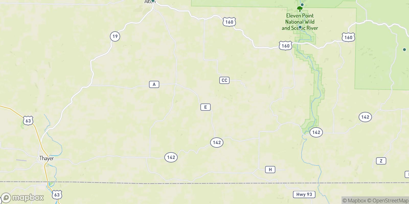 The best camping near Garfield, Missouri