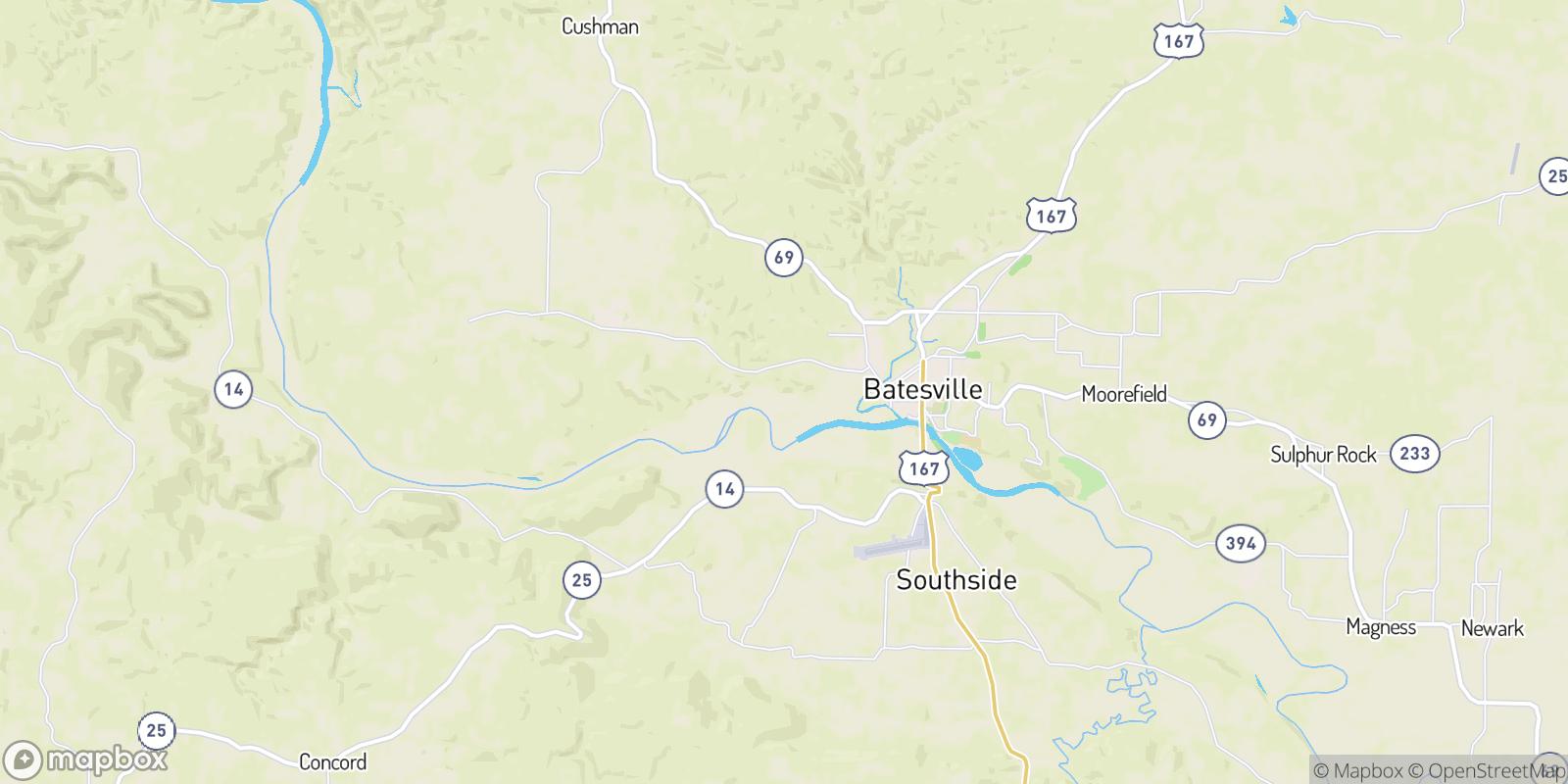 The best camping near Cushman Junction, Arkansas