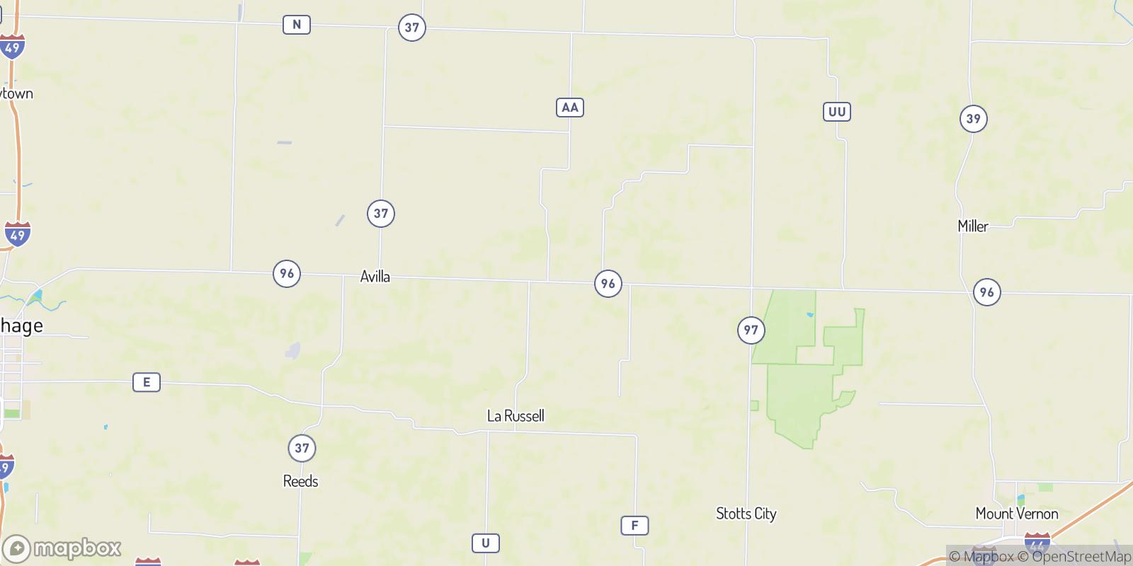 The best camping near Plew, Missouri