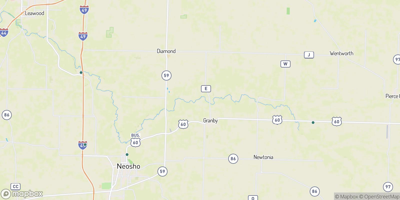 The best camping near Granby City, Missouri