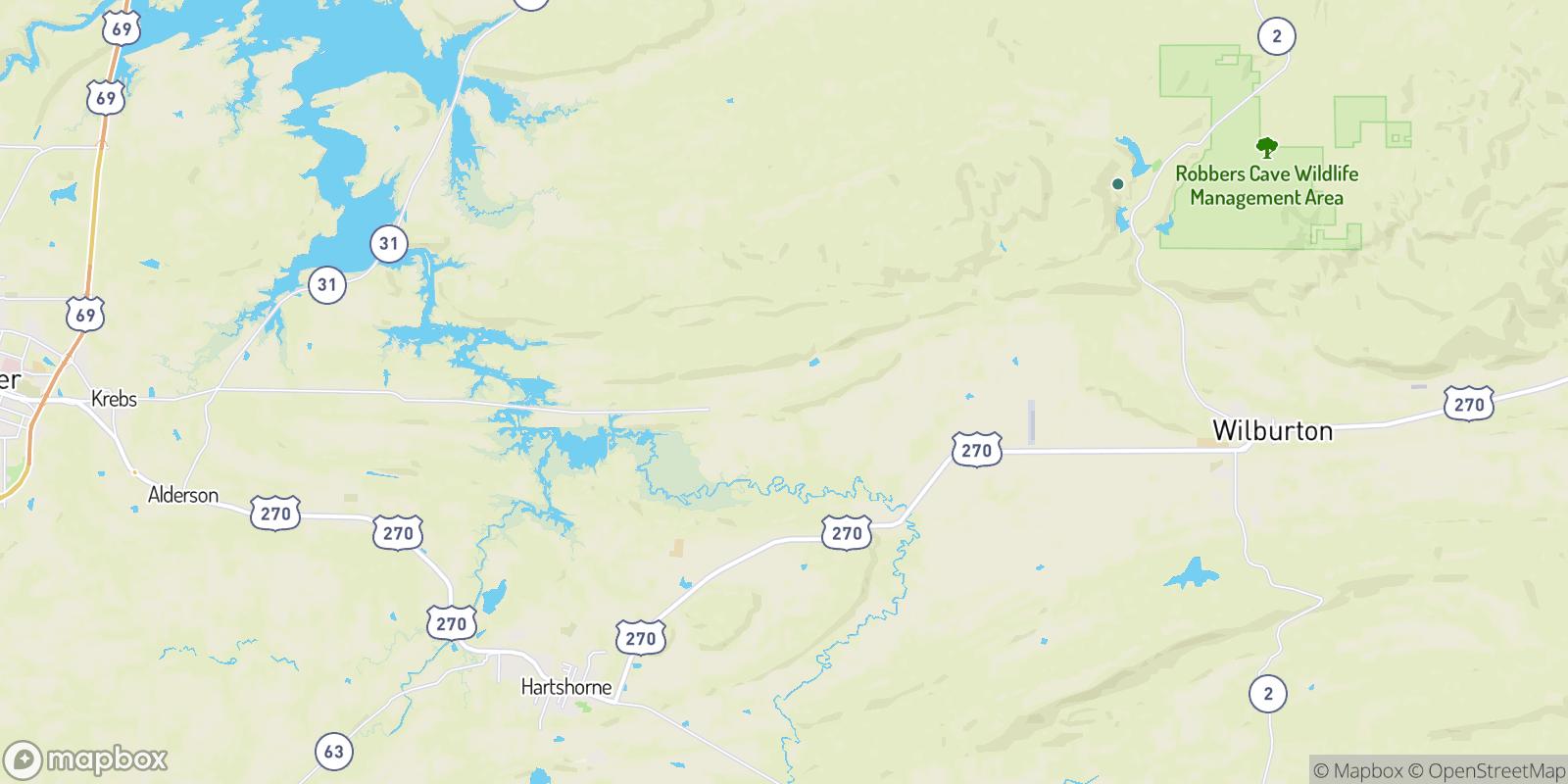 The best camping near Drumb, Oklahoma