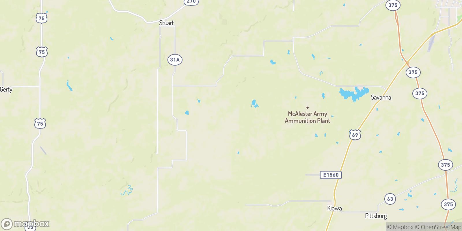 The best camping near Ward Springs, Oklahoma