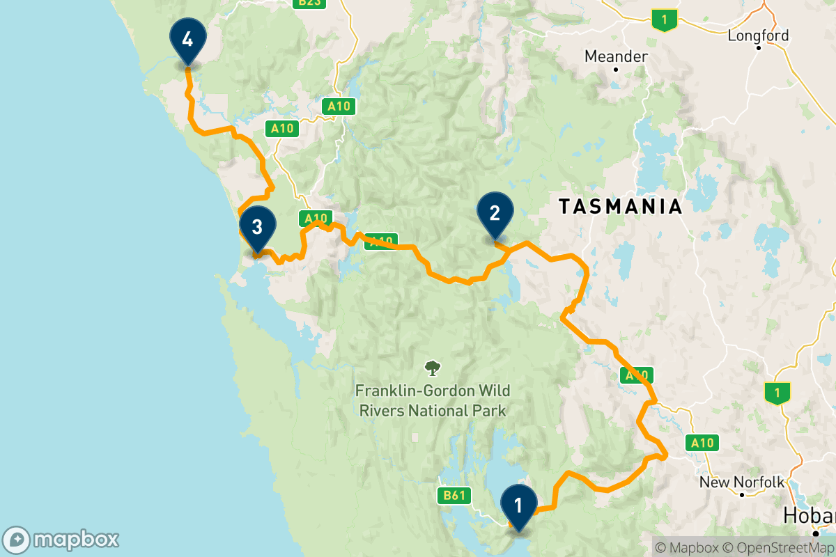 タスマニア州西部の荒野を行く6日間の旅