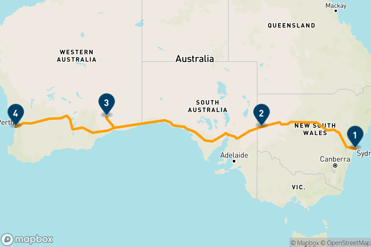 4 days on board the Indian Pacific train