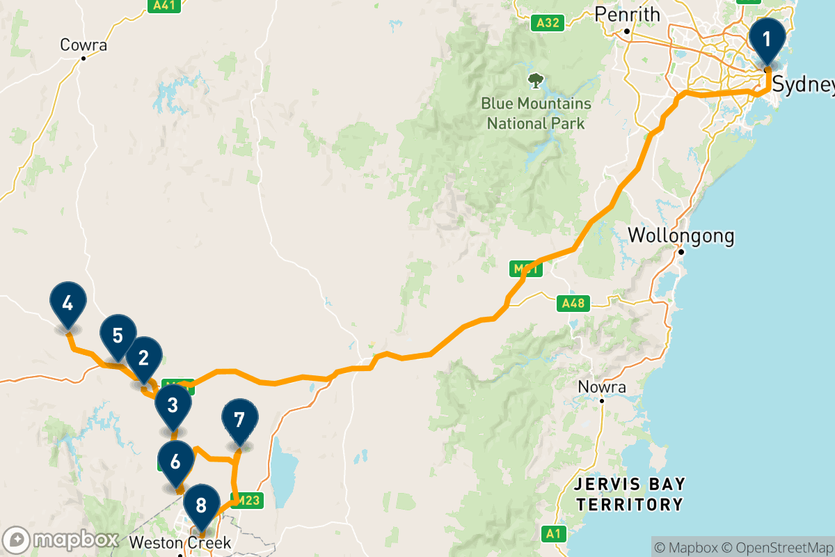 4 days exploring the food and wine delights of the Yass Valley