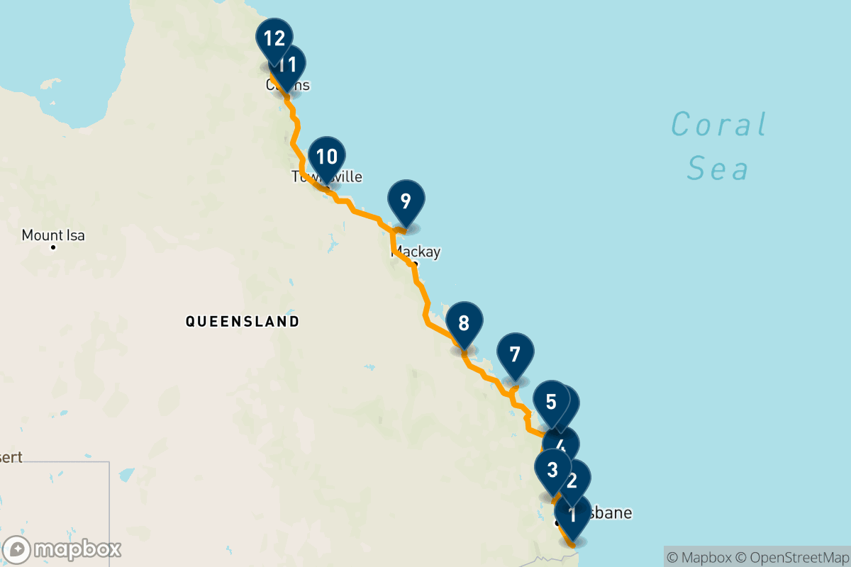 16-day family road trip: Gold Coast to Cairns