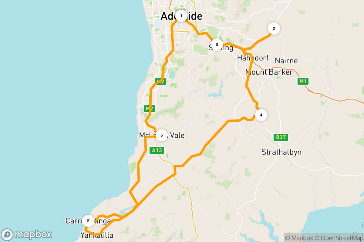 6-day road trip in the Adelaide Hills and McLaren Vale