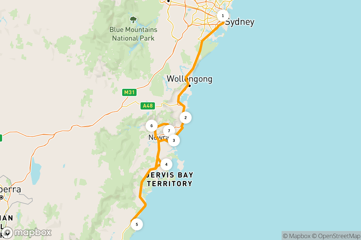 Family road tripping on the South Coast