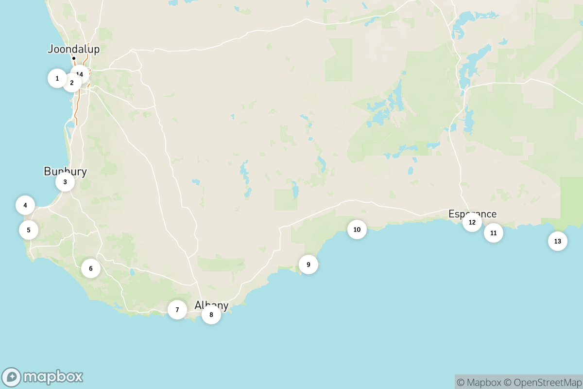 2-week road trip along Western Australia's South West Edge