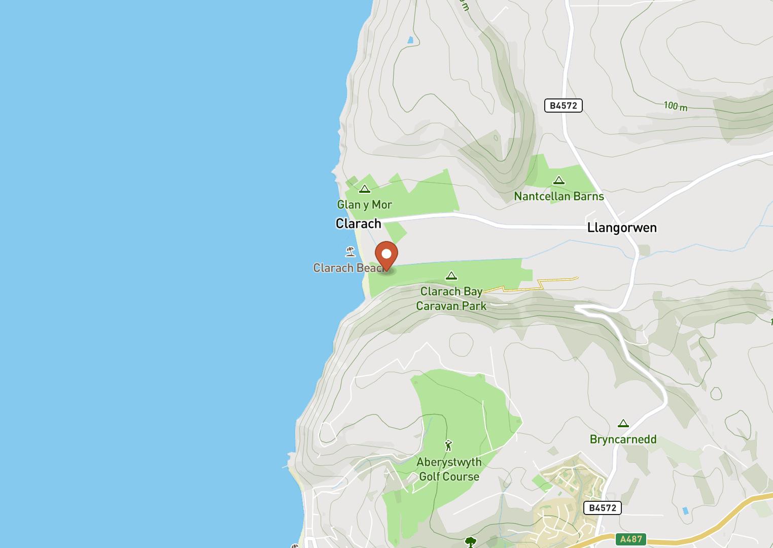 Mapbox Map of -4.077739,52.433331