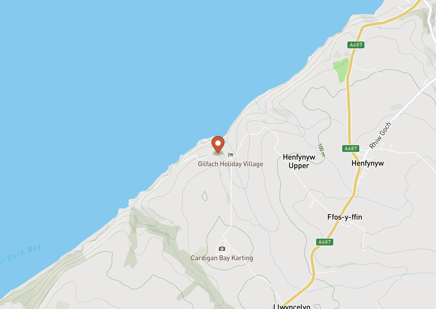 Mapbox Map of -4.2928685,52.2264804