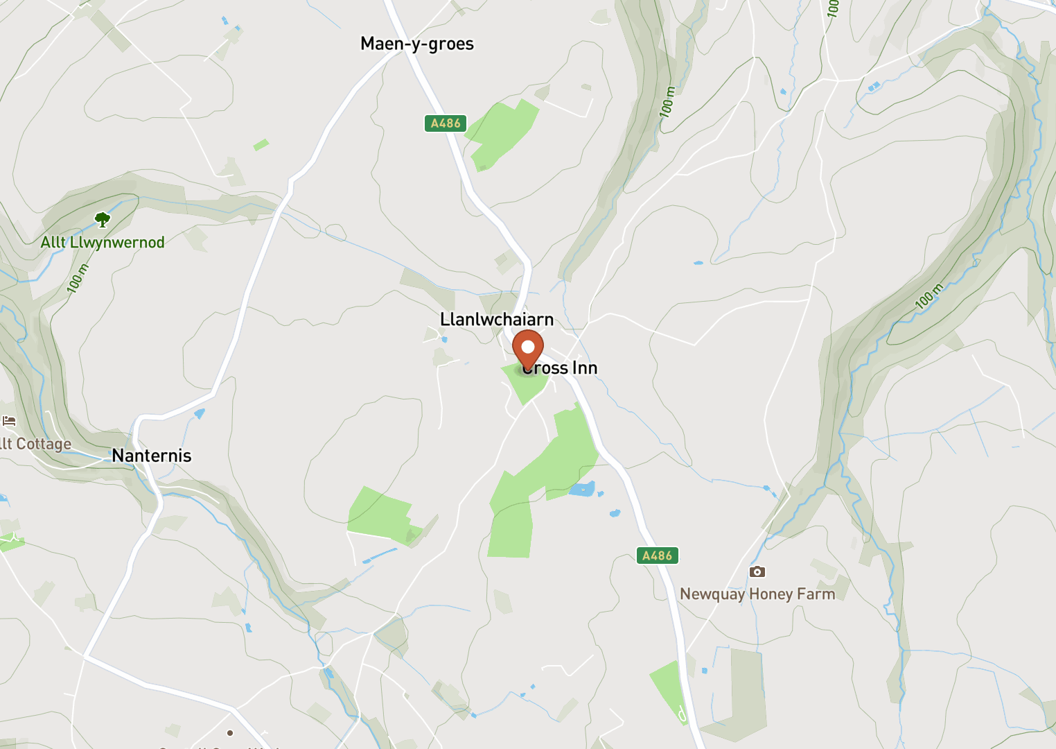 Mapbox Map of -4.357686,52.189763