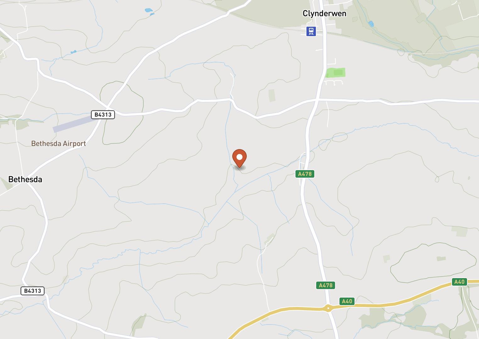 Mapbox Map of -4.740791,51.828454