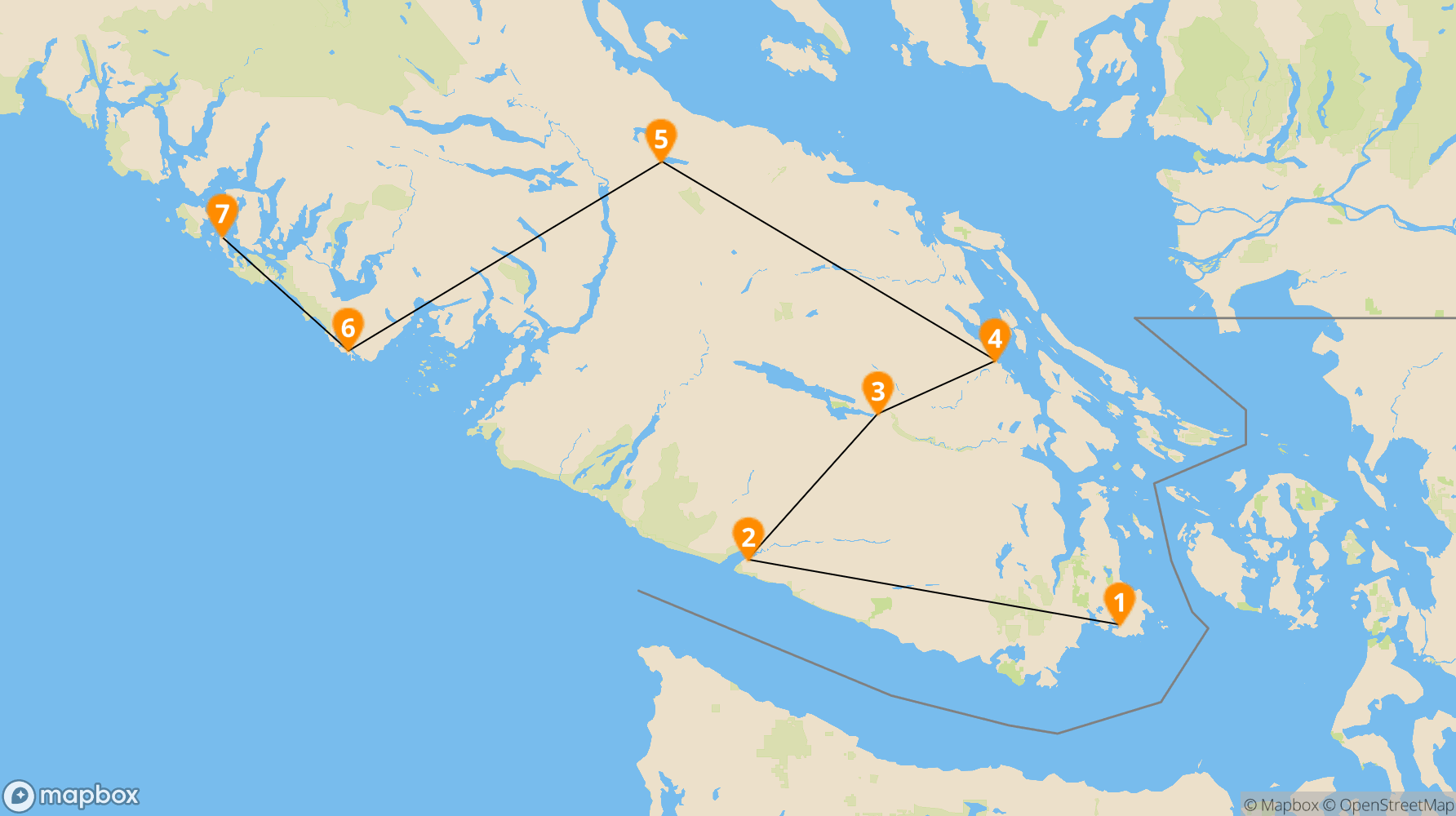 Route Vancouver Island