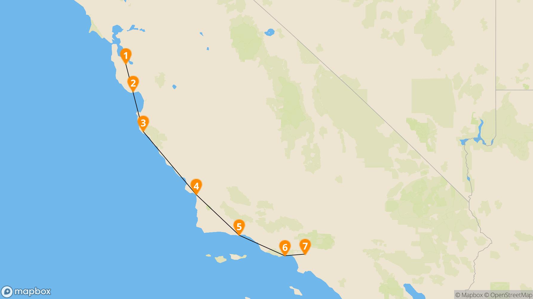 Route California Coast