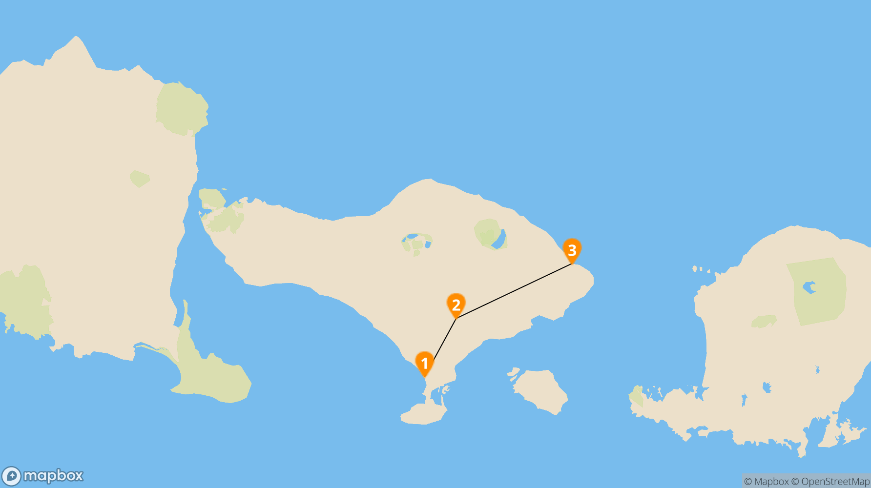 Route Bali