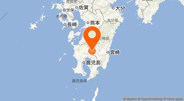 霧島山(えびの高原(硫黄山)周辺)の地図情報